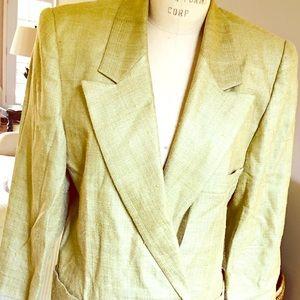 Vintage Linda Allard for Ellen Tracy. Raw silk.